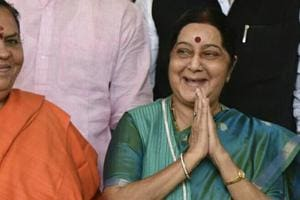 Safety of Indians a top priority for govt: Sushma Swaraj speaks on US attacks in Parliament