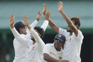 Lakshan Sandakan twin strike helps Sri Lanka derail Bangladesh on Day 2