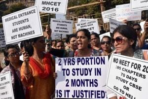 Parents and students staged a protest march against Education division