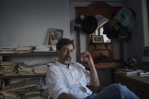 Actor, writer and director Rajat Kapoor at his Bandra office