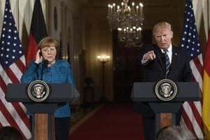 Trump reiterates strong support for NATO during meeting with Merkel