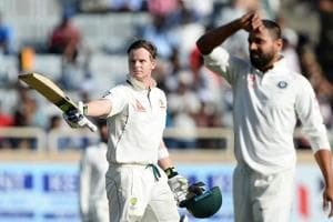 Steve Smith, Australia captain, scored 178* in the first innings against India in the third Test in Ranchi.