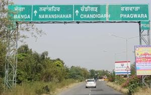 The stretch from Mehli to Asron village is part of the fourlane project, initiated by National Highway Authority of India.