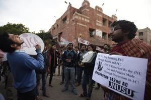 JNU students protest MPhil, PhD seat cuts, clash with cops