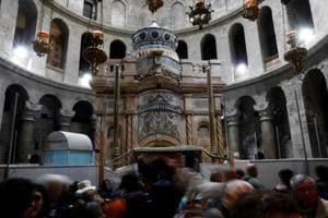 After $3.7 million renovation, tomb of Jesus restored to former glory...