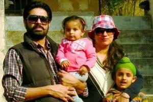 An old family photo on Ekam Dhillon's Facebook account.
