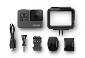 The Hero5 Black cuts down on the number of accessories