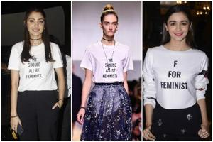 The feminist side to fashion: These talking tees are a hit on and off...
