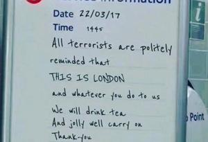 London terror attack: Fake Tube sign goes viral, reaches parliament