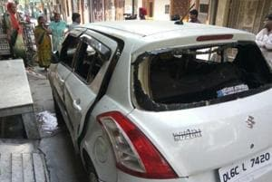Two minors suffer burns after parked car catches fire in Rohini