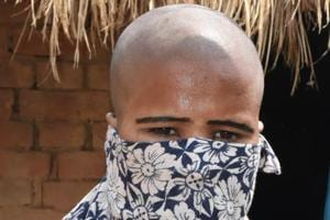 A woman whose head was tonsured over an alleged illicit relationship with a man in Bhagalpur district.