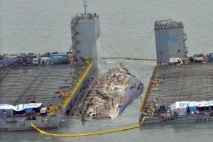 South Korean ferry that sank 3 years ago, killing over 300 people,...