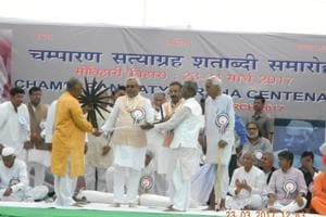 Gandhian thought best salve for divided India, says Nitish