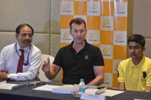 In Chandigarh, Brett Lee motivates the hearing impaired