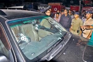 Motorcycle-borne assailants intercepted Dhanbad's former deputy mayor Neeraj Singh's SUV and opened fire. The incident took place barely 100m from his home.