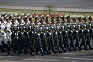 Chinese, Saudi troops march in Pakistan Day military parade