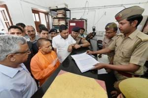Uttar Pradesh CM Adityanath visits Lucknow police station, inquires...