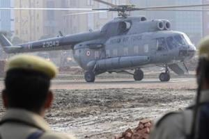 Air force helicopter makes emergency landing in Telangana after...