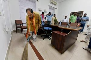 After CM Adityanath's cleanliness push, UP minister Upendra Tiwari...