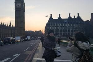 The selfies are back on Westminster Bridge