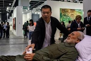 Dead dictators draw curious crowds at art show in Hong Kong