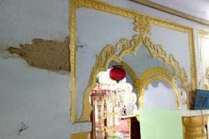 Damaged walls of Chhota Imambada