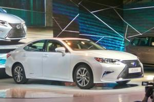 Lexus ES 300h at the launch in New Delhi on Friday.