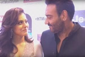 HT Most Stylish awards: When Kajol-Ajay walked in contrasting colours