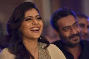 Kajol with husband Ajay Devgn at the HT Most Stylish awards function in Mumbai on Friday.