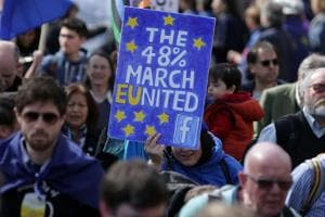 London marches in support of EU, seeks to reverse Brexit