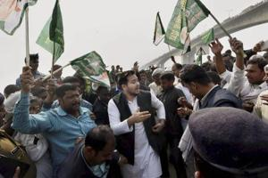 Tejaswi Yadav dares Yogi Adityanath to ban liquor, set up 'anti-Daru'...