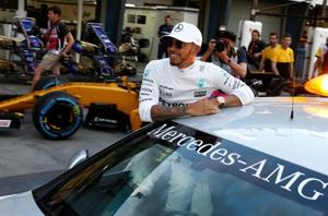 Formula One: Lewis Hamilton on pole for Australian Grand Prix with...