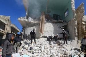 Air strike on prison in Syria's Idlib kills 16
