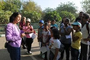 Gurgaon nature lovers join tree walk in Aravalli Biodiversity Park