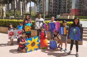 Gurgaon Uniworld Gardens to be beautified with kids' paintings