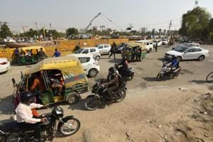 Traffic flow from Noida's Sector 71 to NH24 hit due to potholes,...