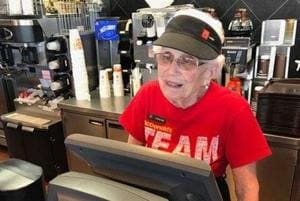 Age is just a number: A 94-year-old employee serving at McDonalds for...