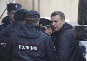 Russian opposition leader Navalny appears in court