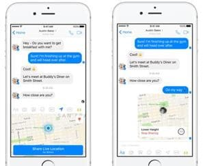 Facebook's Messenger app adds live location-sharing