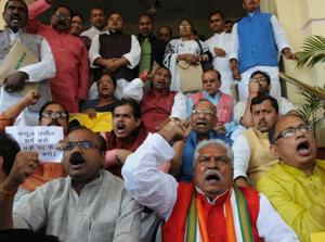 BJP MLC suspended for unruly conduct in Bihar house