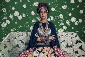 Frida on White Bench, (Lisa Haydon); Rohit Chawla, Archival pigment print; 2011