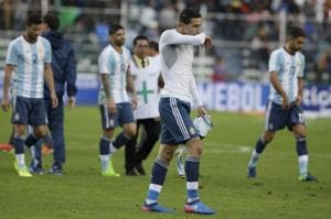 Lionel Messi-less Argentina slump to yet another defeat against...