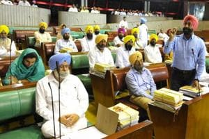 Bonhomie gives way to rancour, session ends with AAP MLAs' slogans...