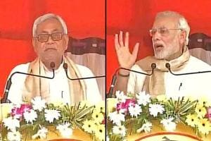 A combination photo of Prime Minister Narendra Modi and Bihar chief minister Nitish Kumar. Will Kumar become the face of a combined opposition  to take on Modi in the 2019  general elections?