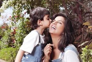 TV actor Dalljiet Kaur's new adorable photoshoot is mom-son goals. See...