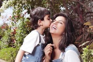 Dalljiet with her son Jaydon.