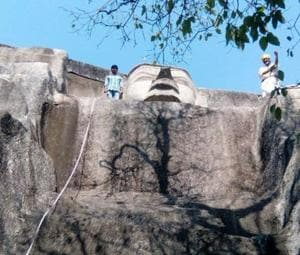 Antiquities destroyed in Bihar's Mandar hills ropeway project