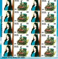 That's me, Lavina Mulchandani, on a real stamp! Mumbai's GPO lets you put your face next to an actual stamp and create a stamp all your own.