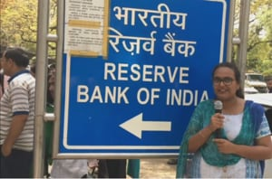 Chaos and confusion prevailed outside the Reserve Bank of India...