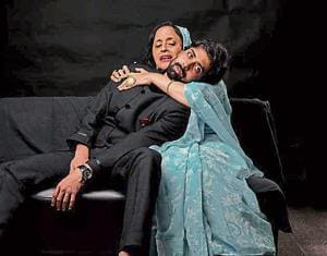 The play, set in Rajasthan, is about a struggle between tradition and modernity.
